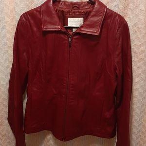 Lambskin Leather Brick Red Worthington Coat
